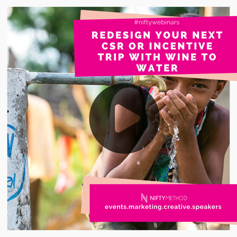 Child drinking clean water - how to redesign your event and CSR program