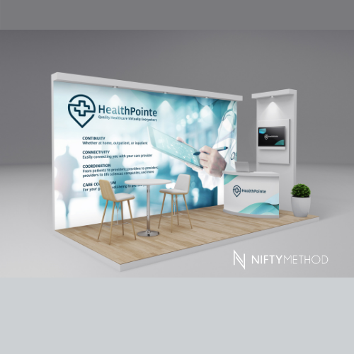 healthcare virtual event booth design _Nifty Method